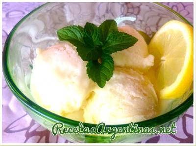 helado de limón