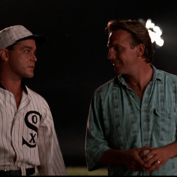 "Ray Liotta and Kevin Costner in ""Field of Dreams"""