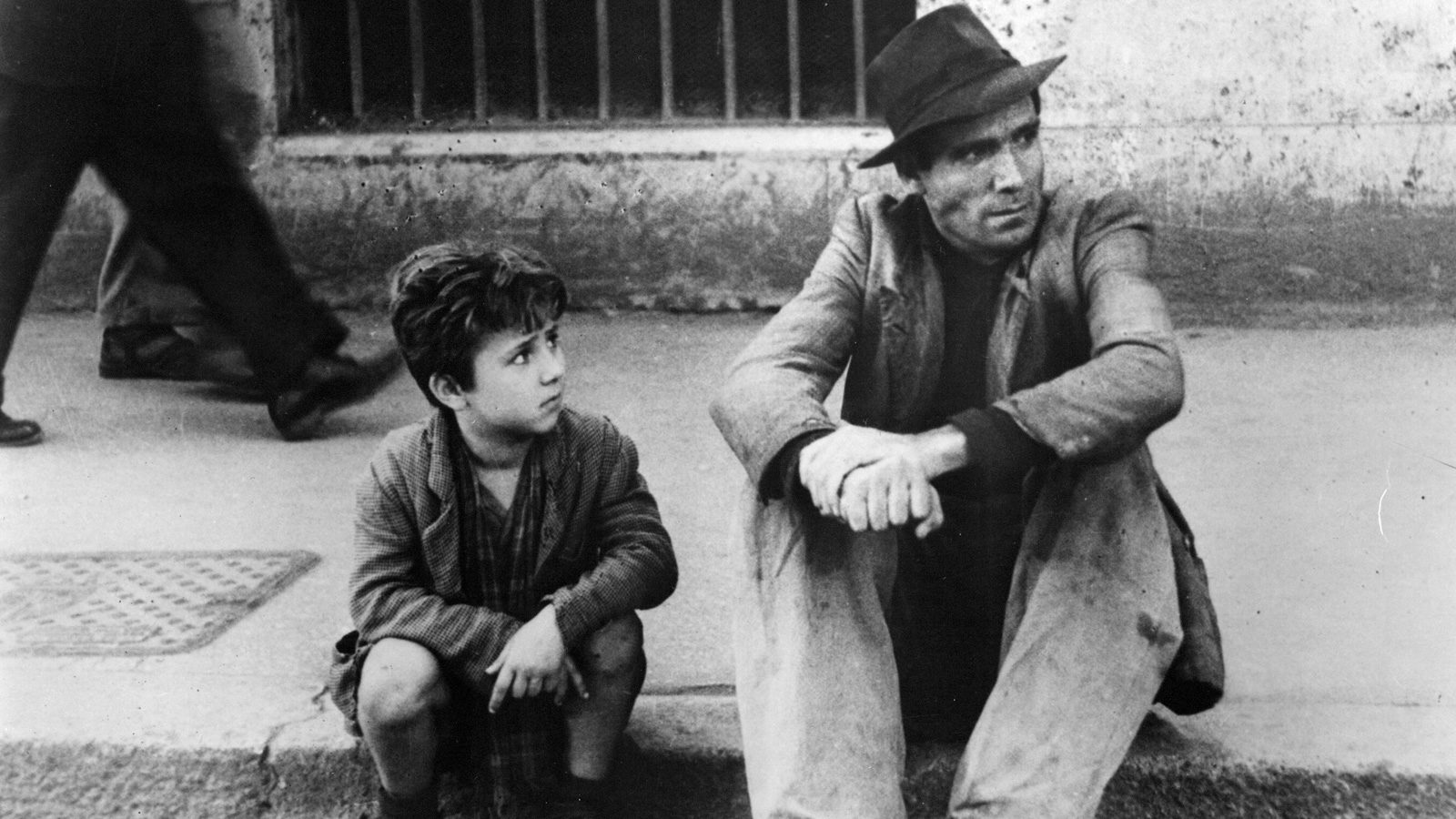 "Scene from the movie ""Bicycle Thieves"""