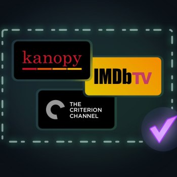 Kanopy, The Criterion Channel, and IMDb TV are now supported by Reelgood