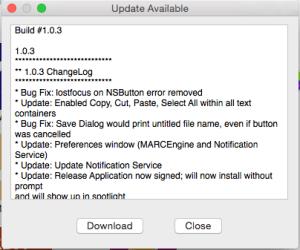 Mac Port Notification Example