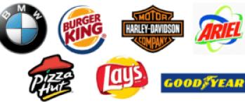 Isologos de diferentes marcas