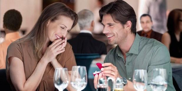 pedido de casamento no jantar