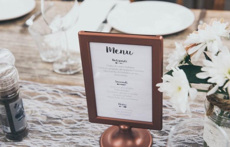 cardápio de jantar de casamento como montar