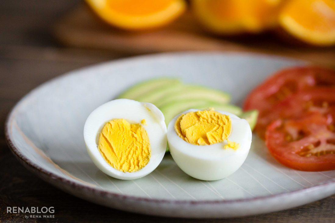 Huevos cocinados con un mínimo de agua