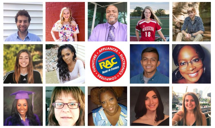 RAC scholarship recipient collage of portraits