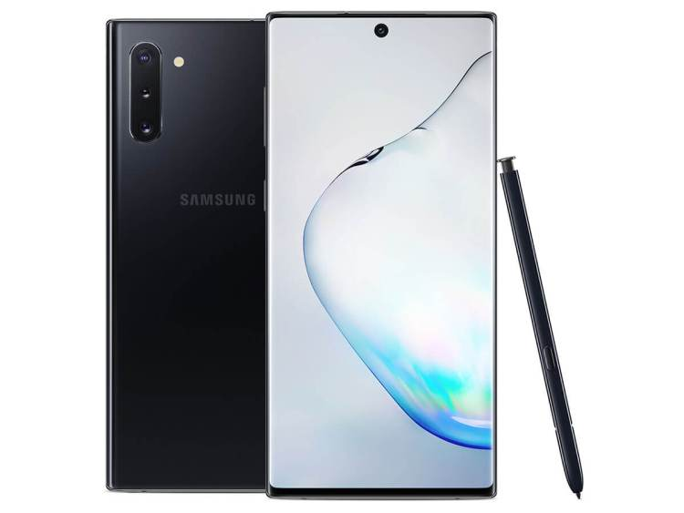 Galaxy Note10 phone with stylus