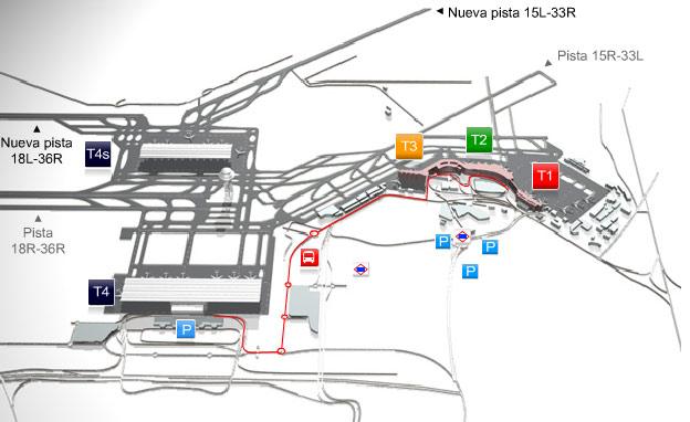 Barajas Repülőtér - Térkép