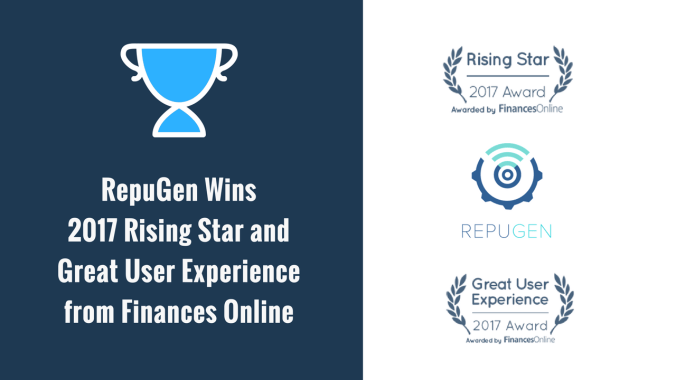 RepuGen wins awards for great user friendliness