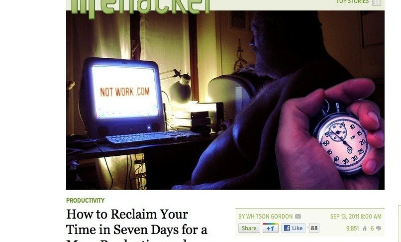 Lifehacker Article