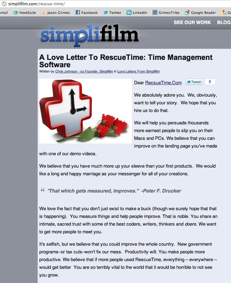 Love Letter from Simplifilm