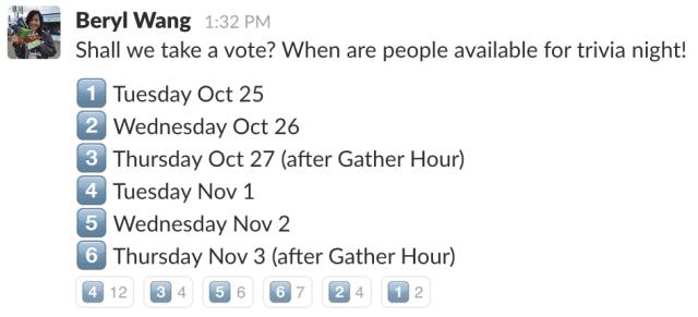 Slack - emoji response