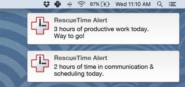 RescueTime Alerts