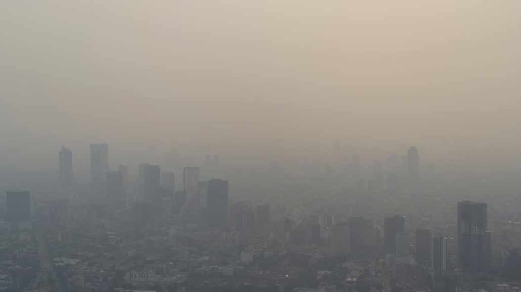 Mexico City blanketed by smoke. Photo by Santiago Arau