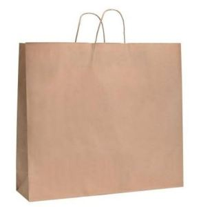 Bolsa de papel Kraft Asa Rizada 45x15x49