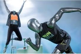 Maniquí dinámico para tiendas deportivas