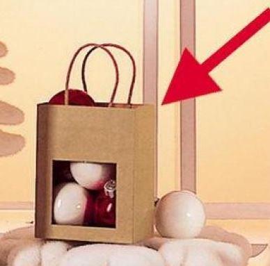 mini bolsa de papel kraft con ventana