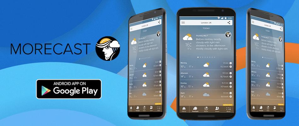 morecast - 15 melhores aplicações android grátis