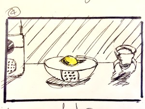 What goes around, comes around - initial storyboard, frame 4