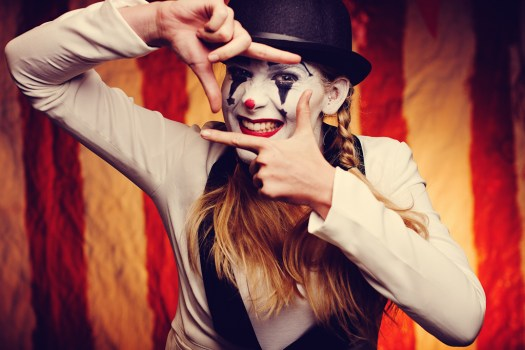 crying clown photography