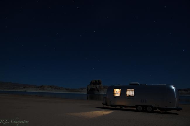 Night time Airstream