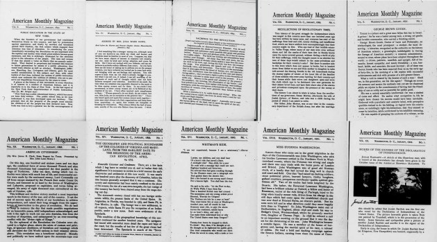 First page of January issues from 1893-1902