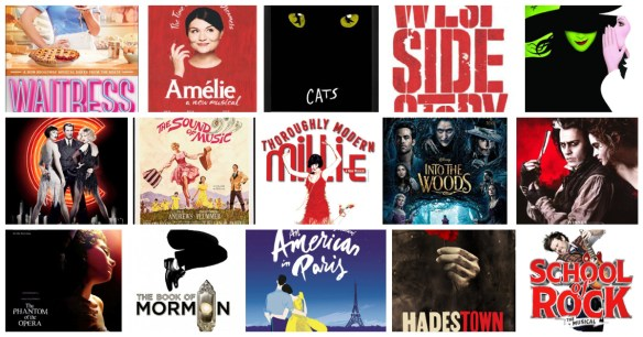 Assorted Broadway Musical Posters 2