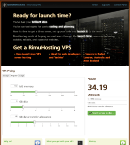 Launchtime VPS hosting