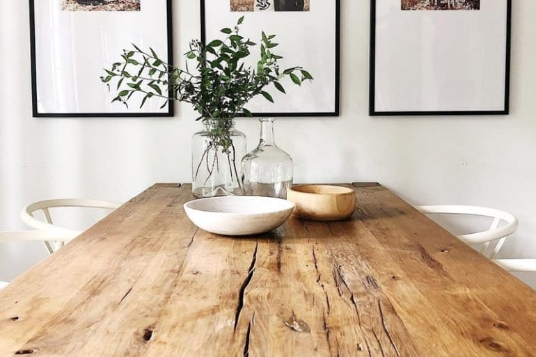 entretenir sa table en bois