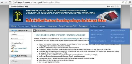 database peraturan di indonesia