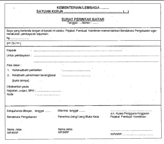 Contoh Surat Perintah Bayar (SPBy)
