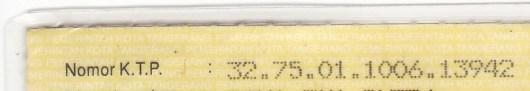 Nomor KTP Lama