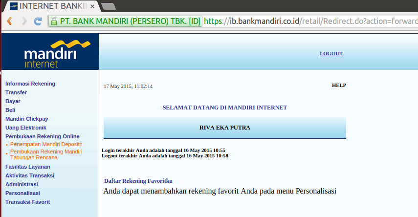 Buka Deposito Melalui Internet Banking Mandiri Blog Rivaekaputra Com