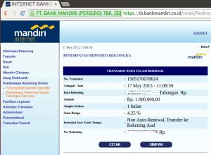 06 Buka Deposito melalui Internet Banking- TRANSAKSI BERHASIL