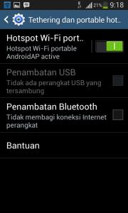 Aktifkan portable wi-fi hotspot pada android jellybean