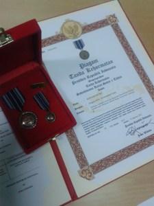 Piagam dari Presiden (Satyalancana Karya Satya X Tahun)
