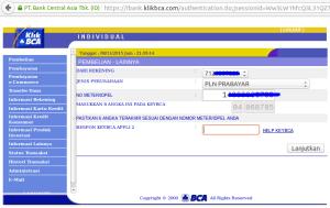 Pilih : PLN PRABAYAR, masukan respon Token Appli 2