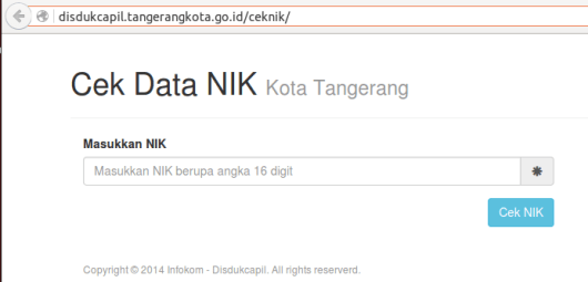 Cek NIK Kota Tangerang 1