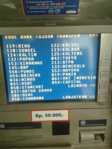 Daftar Kode Bank se Indonesia - layar atm hal 2