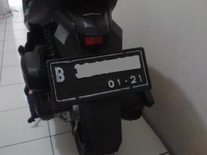 Plat Nomor Motor belakang tanpa lubang
