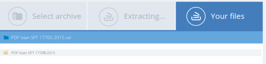 4 selesai - muncul dalam 1 folder klik