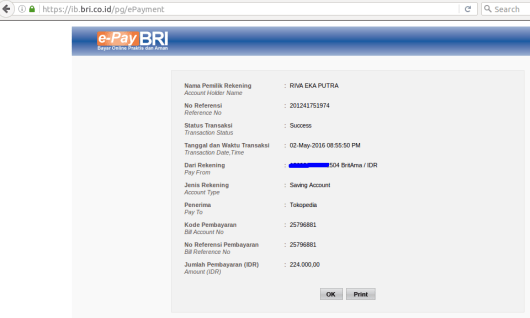 transaksi sukses e-Pay BRI - Screenshot from 2016-05-02 20:55:55
