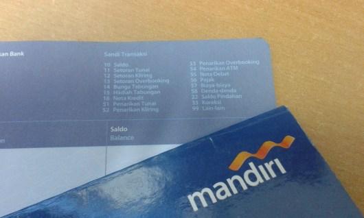 Sandi Transaksi pada Tabungan Rupiah Bank Mandiri
