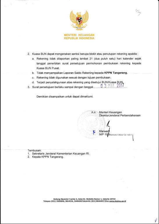 Contoh Surat Persetujuan Pembukaan Rekening RPL – blog