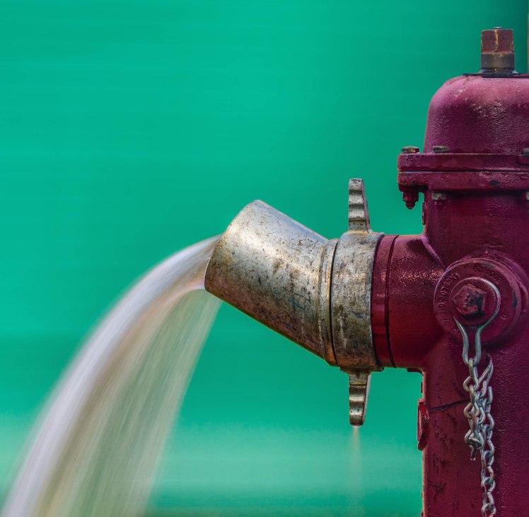 Slow shutter speed shot of fire hydrant