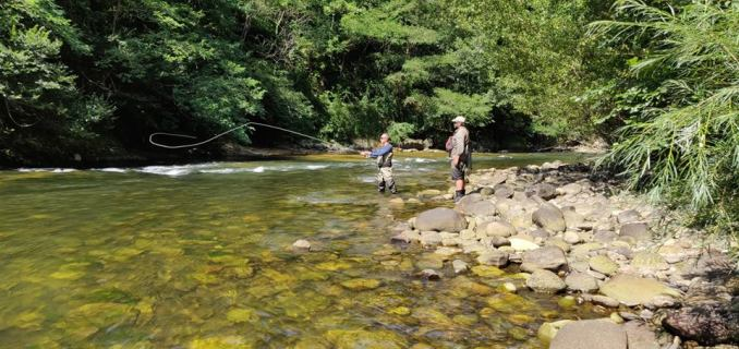 Romain Quiles, moniteur guide de pêche dans les Pyrénées