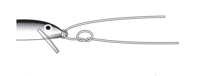 Le noeud Rapala étape 1