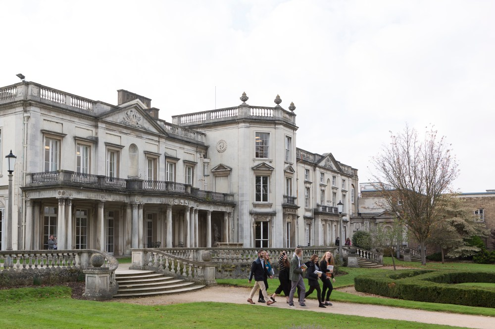 Students outside Grove House