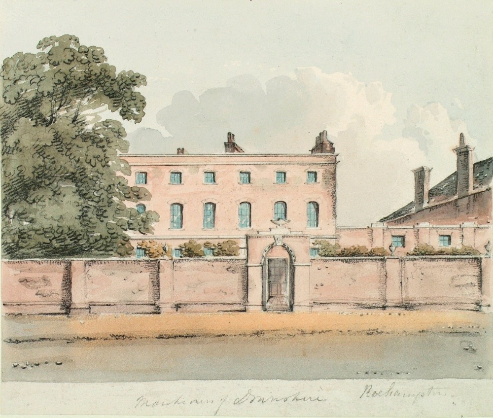Downshire House, Roehampton. Drawn by Edward Hassell c.1820