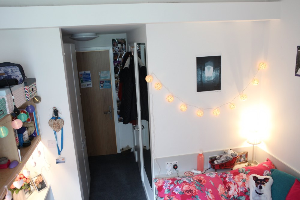 A room in our on-campus accommodation